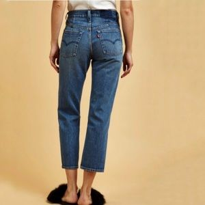 Levi's High Waist Waterless Altered Straight Jeans